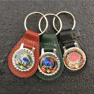 clan leather keyrings