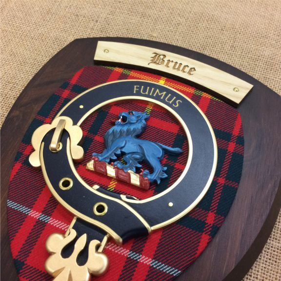 bruce clan dark wood plaque