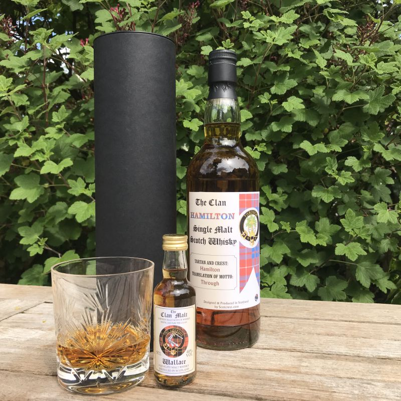 scottish clan single malt whisky 70cl and 5cl