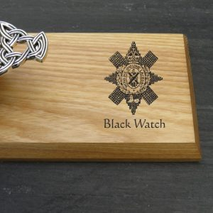 black watch scottish quaich plaque