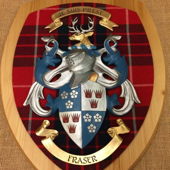 coat of arms plaque fraser