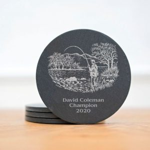 personalised fisherman scottish slate coasters