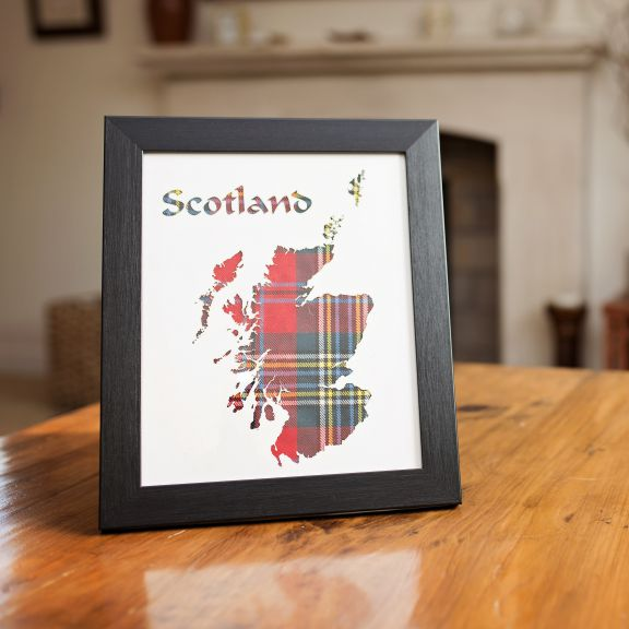 tartan art scotland map