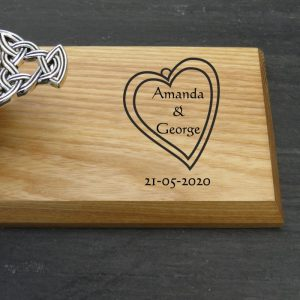 wedding heart scottish quaich plaque