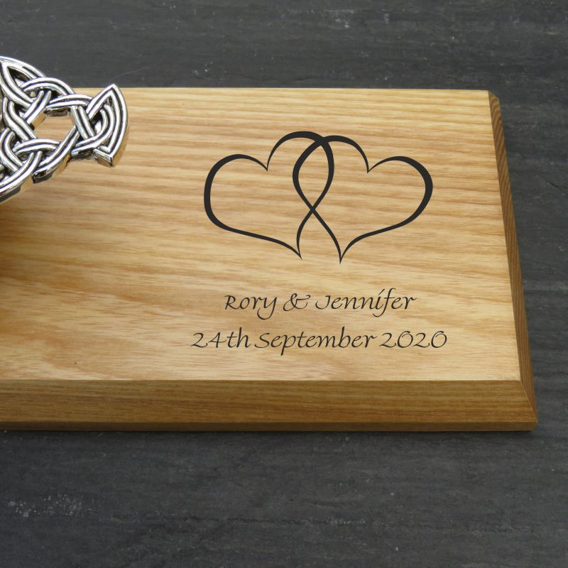 wedding quaich plaque names