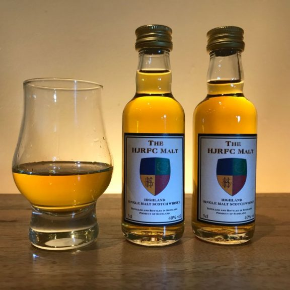 HJRFC Whisky Miniature and Glass