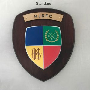 Standard Dark Wood HJRFC Wall Shield